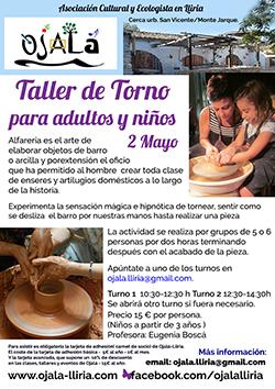 Taller de Torno para adultos y niños ( a partir de 3 años)
