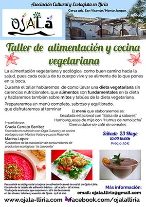 Taller de alimentación y cocina vegetariana : Sábado 23 Mayo