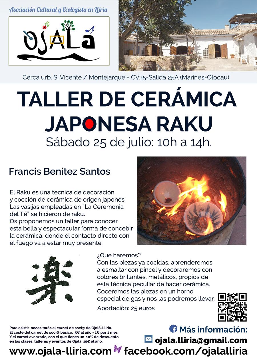 taller de cerámica - Japanesa raku en ojala lliria julio 2015