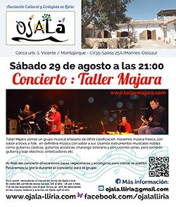 Concierto : Taller Majara. – Sábado 29 de Augusto.