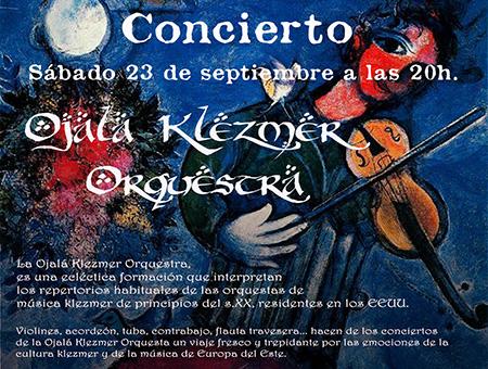 Ojalá Klezmer Orchestra – sábado 23 de septiembre