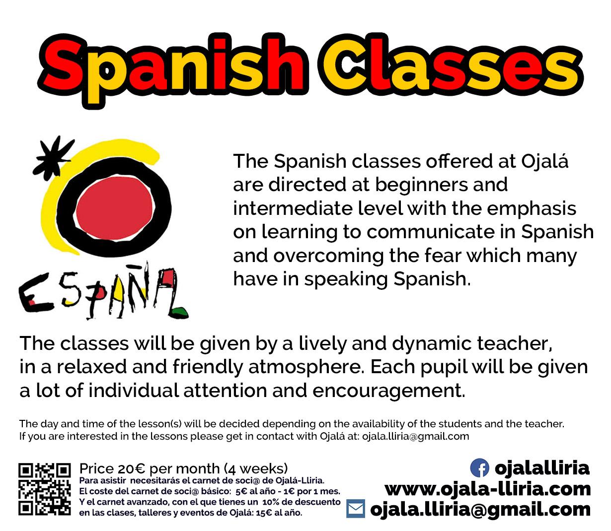 spanish class lliria