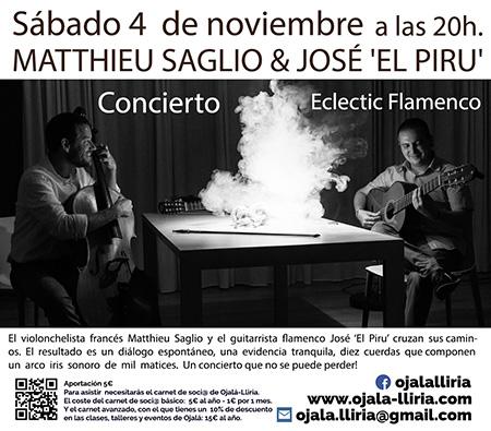 Concierto Flamenco Mattieu Saglio y José el Piru