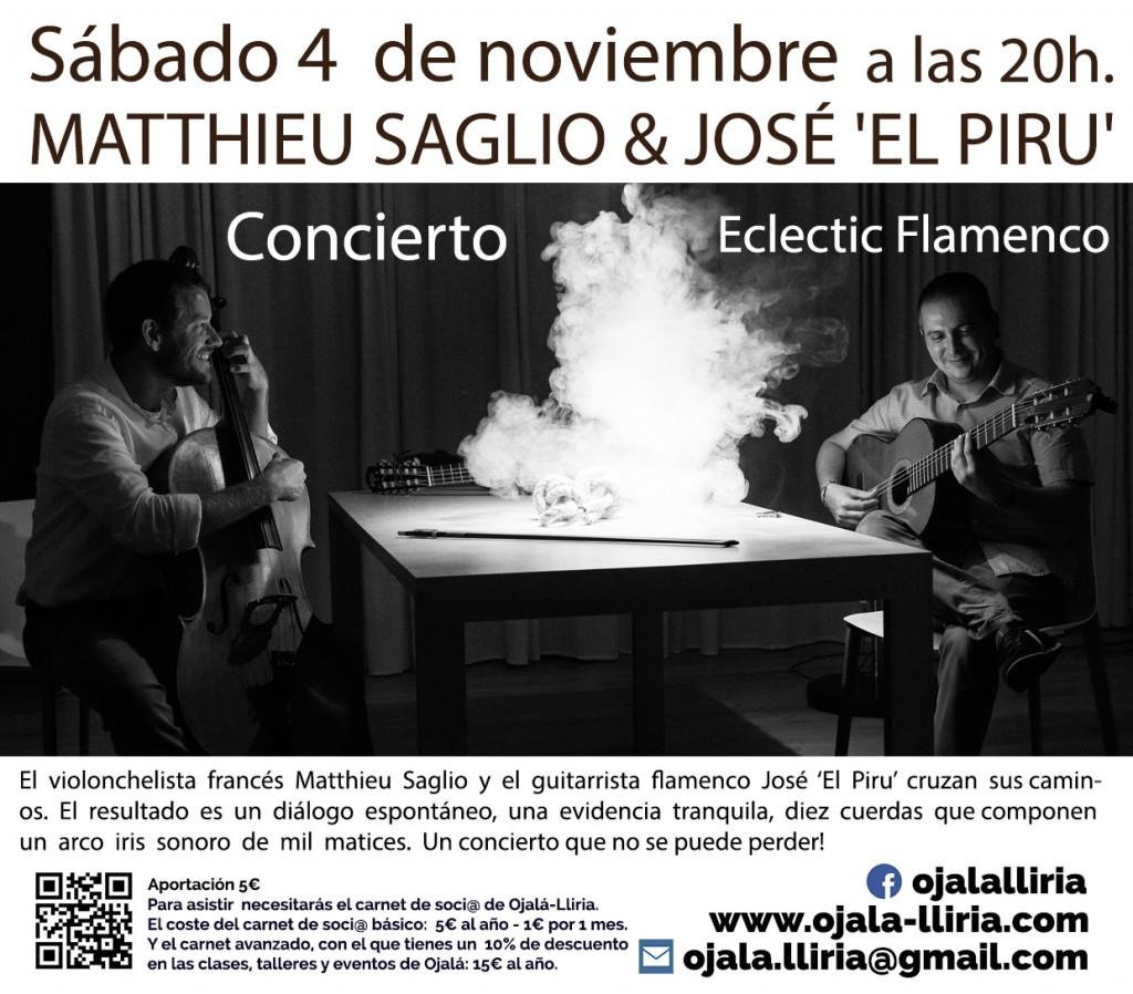 concierto flamenco lliria 4 noviembre el piru y mattieu saglo
