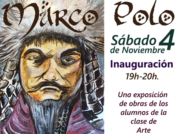 Marco Polo: Exposición de clase de arte.