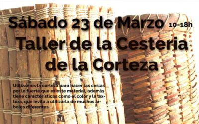 taller de Cestería de Corteza sábado 23 de marzo