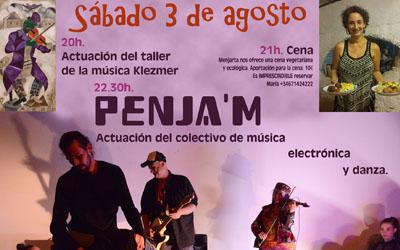 Concierto Penja'm, Cena y actuación Klezmer 3 de Agosto