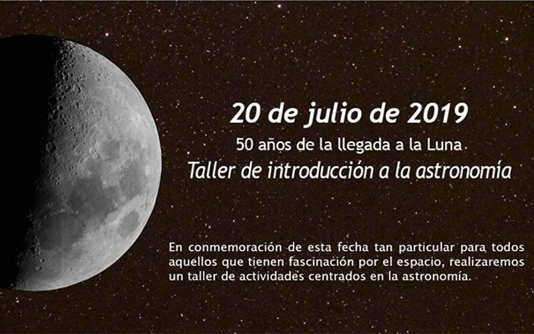 taller de astronomía 20 de Julio.