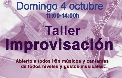 Taller de Improvisación – 4 de octubre
